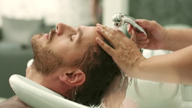 hair washed - beauty salon stock videos and b-roll footage