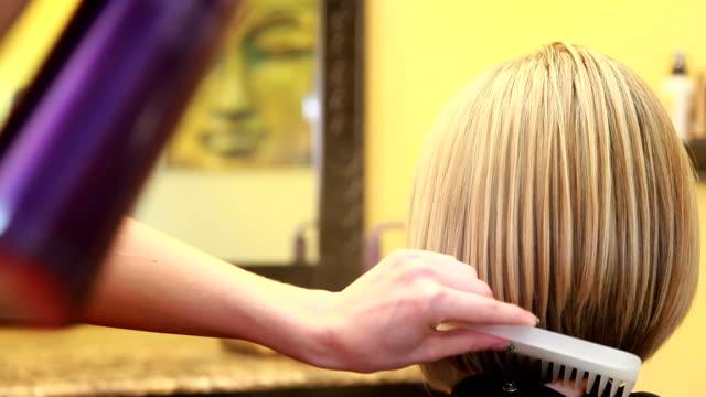 haircut finishing - hair spray stock videos & royalty-free footage