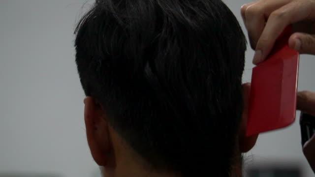 haircut - cutting hair stock videos and b-roll footage