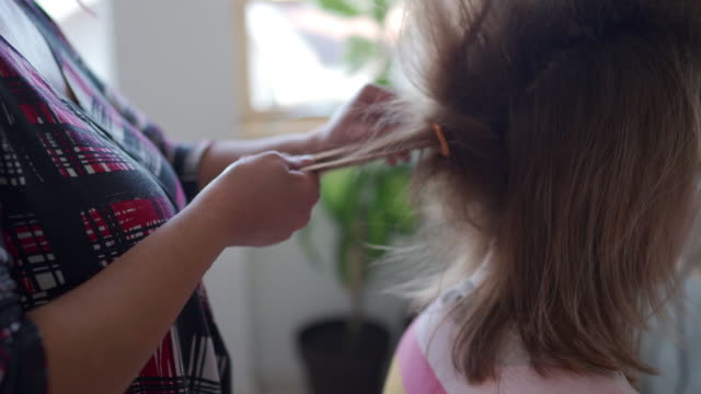 hairstyle in process - big hair stock videos & royalty-free footage