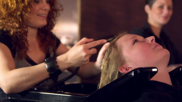 hairstyling compilation - beauty salon stock videos and b-roll footage