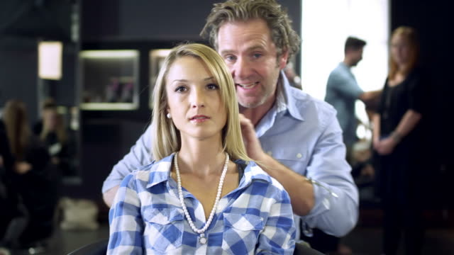 hairstyling - beauty salon stock videos and b-roll footage