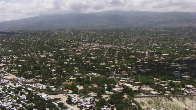 haiti: aerial view of port-au-prince - port au prince stock videos & royalty-free footage