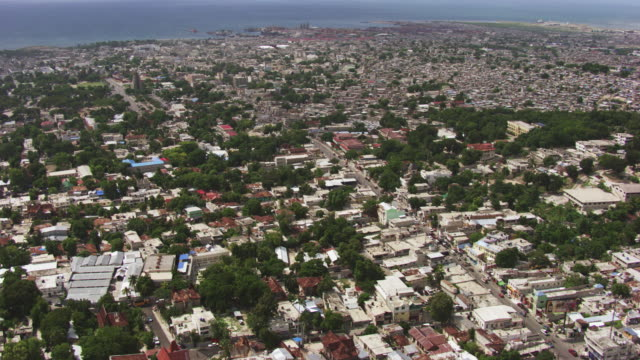haiti: aerial view of port-au-prince - haiti stock videos & royalty-free footage
