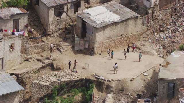 haiti: children playing in neighborhood - haiti stock videos & royalty-free footage