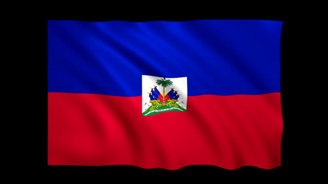 haiti flag loopable matte included - stock video - flag haiti stock videos & royalty-free footage