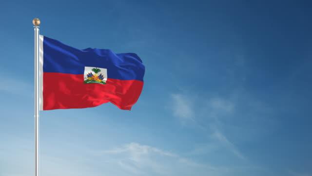 stockvideo's en b-roll-footage met 4k haïti flag - loopbare - haïti