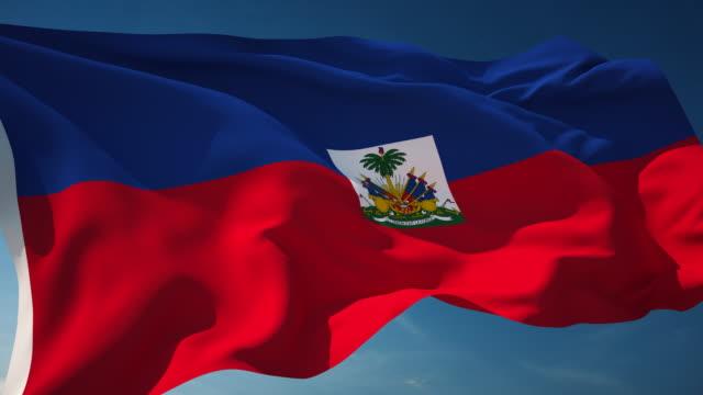 4k haiti flag - loopable - flag haiti stock videos & royalty-free footage