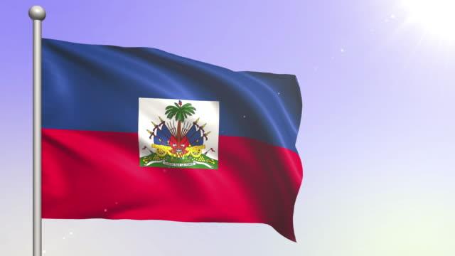 haiti flag (loopable) - flag haiti stock videos & royalty-free footage