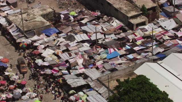 haiti: port-au-prince marketplace - slum stock videos & royalty-free footage