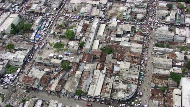 haiti: port-au-prince marketplace wide shot - port au prince stock videos & royalty-free footage