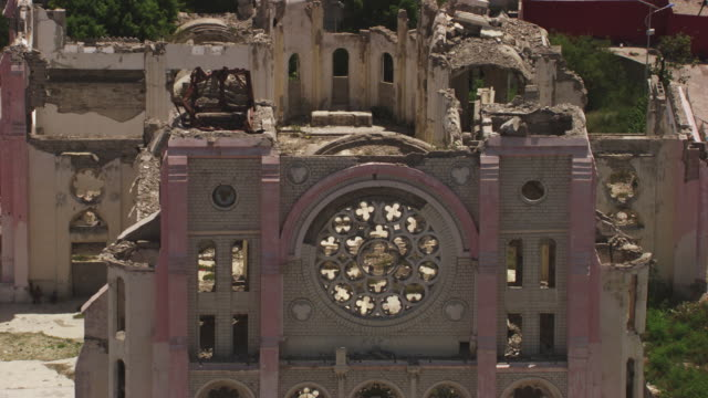 haiti: the cathedral notre-dame of the assumption - crisis stock videos & royalty-free footage