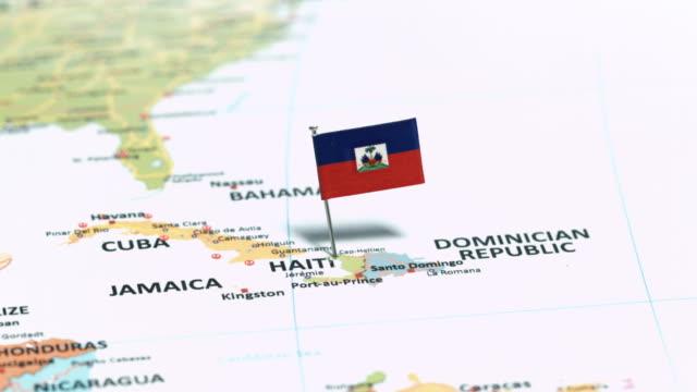 haiti with national flag - flag haiti stock videos & royalty-free footage