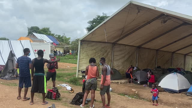 haitian migrants travelling to a camp set up by the panamanian military in lajas blancas, darien province, panama, on friday, october 8, 2021. the... - dirt track stock videos & royalty-free footage