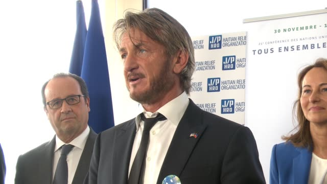 haitian relief organization ceo sean penn joins forces with sean parker french and haitian governments to launch haiti reforestation initiative at... - reforestation stock videos and b-roll footage