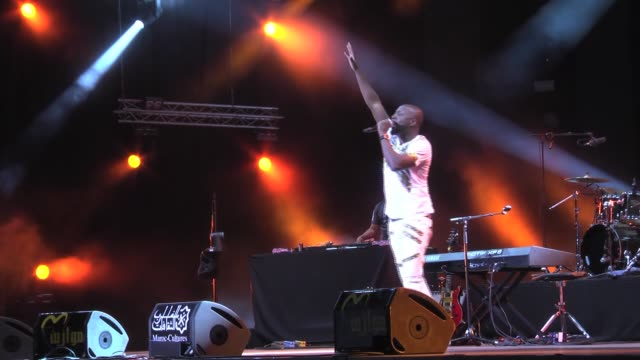 HaitianAmerican singer Wyclef Jean performs on stage during the 15th Mawazine Festival in Rabat Morocco on May 22 2016 The Mawazine Festival –...