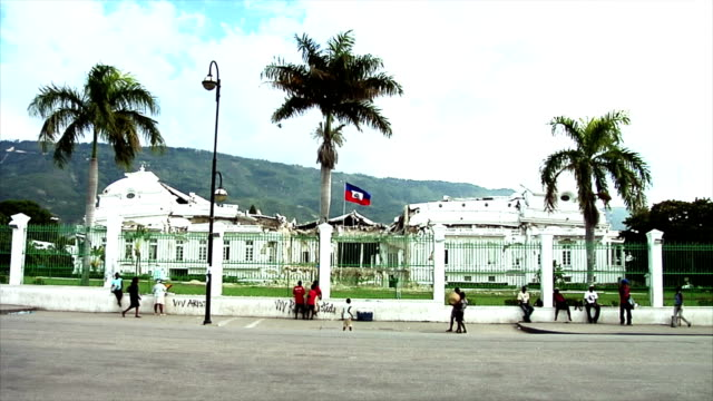 haiti's presidential palace after the earquake - earthquake stock videos & royalty-free footage