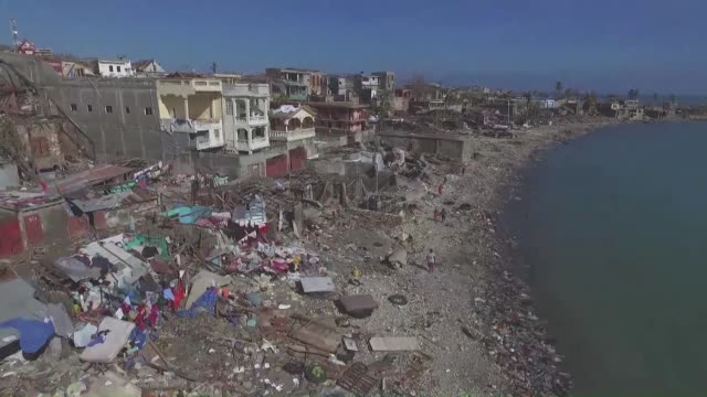 haiti's southern city of jeremie has suffered complete destruction after being hammered by hurricane matthew the care relief agency said - haiti stock videos & royalty-free footage