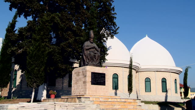 haji bektash veli statue - albania stock videos & royalty-free footage