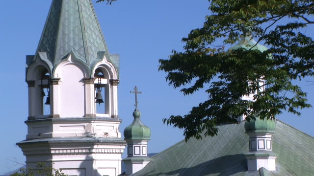 hd, ntsc: hakodate russian orthodox church (video) - 1916 stock videos & royalty-free footage