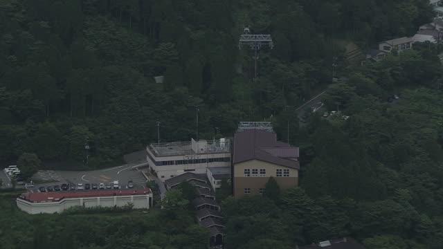 stockvideo's en b-roll-footage met aerial, hakone, kanagawa, japan - commercieel landvoertuig