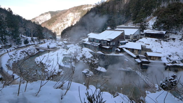 hakuba one of japan's top winter resort areas offering some of the best winter sports action in japan hakuba comprises nine ski resorts stretched... - nagano prefecture stock videos & royalty-free footage