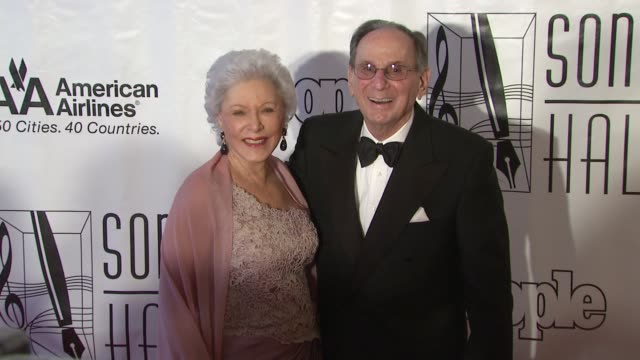 hal david and guest at the songwriters hall of fame 2010 annual awards gala at new york ny - hall of fame stock videos and b-roll footage