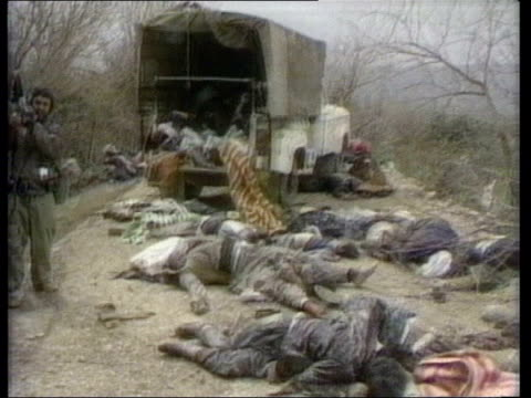 ext gvs bodies in street following gas attack - iraq stock videos & royalty-free footage