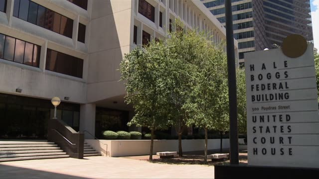 hale boggs federal court building - federal building stock videos and b-roll footage