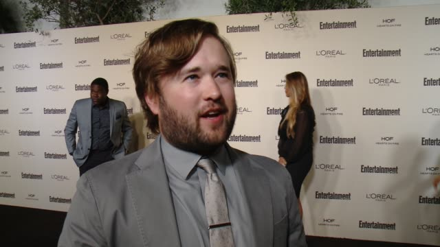 interview haley joel osment on favorite television moments from this past season and on what entertainment weekly means to them at entertainment... - entertainment weekly stock videos and b-roll footage