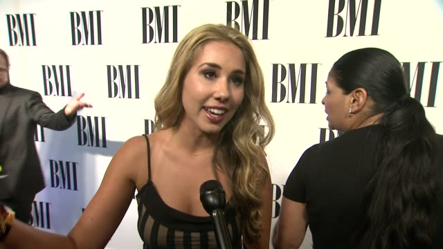 INTERVIEW Haley Reinhart on the event Stevie Nicks being honored at 62nd Annual BMI Pop Awards in Los Angeles CA