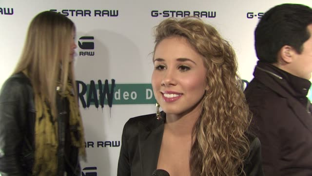 Haley Reinhart on why she is here tonight at GStar Rodeo Drive Opening on 12/6/11 in Beverly Hills CA