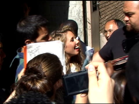 Haley Reinhart signs autographs for fans in New York 06/02/11
