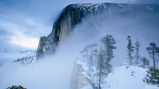 half dome diving board - yosemite national park stock-videos und b-roll-filmmaterial