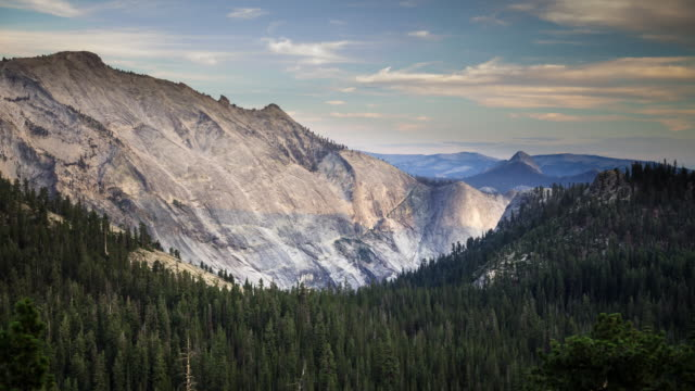 half dome from tioga road, yosemite national park - time lapse - yosemite national park stock videos and b-roll footage