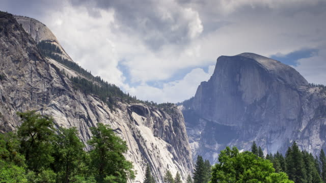 half dome in shadow - time lapse - half dome stock videos & royalty-free footage