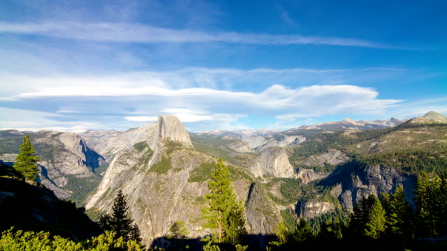 half dome in yosemite national park - half dome stock videos & royalty-free footage