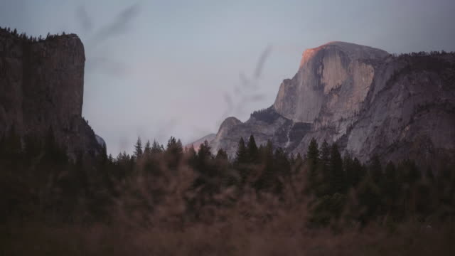 half dome view in yosemite national park, california - mariposa county stock videos and b-roll footage