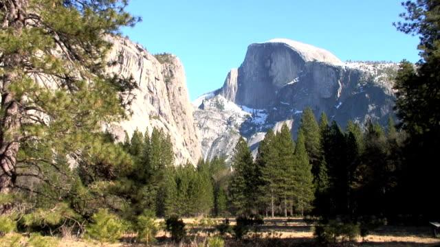half dome, yosemite national park, ca - half dome stock videos & royalty-free footage