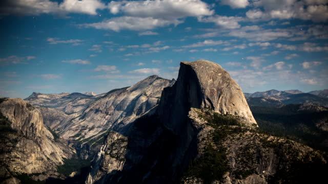 time lapse: half dome yosemite national park - yosemite national park stock videos and b-roll footage