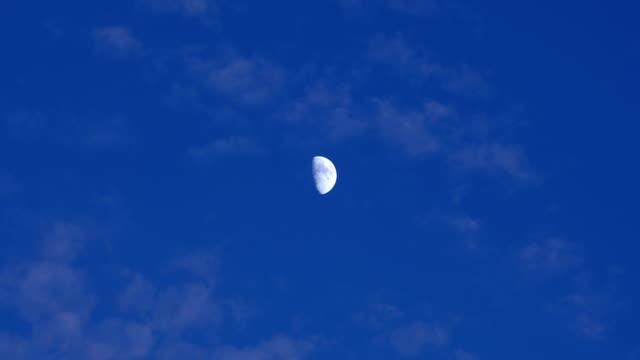 half moon at dusk - half moon stock videos & royalty-free footage