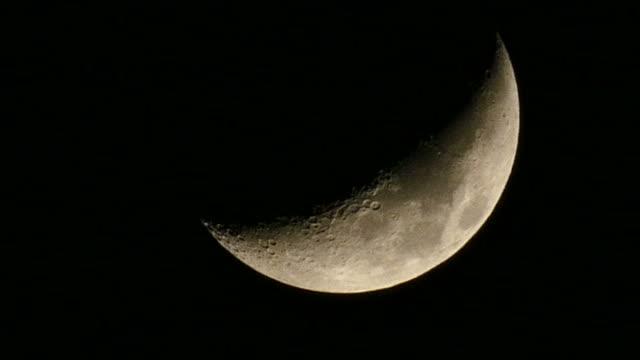 half moon flowing down - half moon stock videos & royalty-free footage