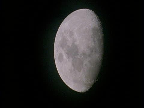 ms half moon in black sky, amazon - half moon stock videos & royalty-free footage