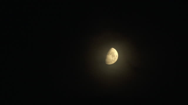 half moon with crater - half moon stock videos & royalty-free footage
