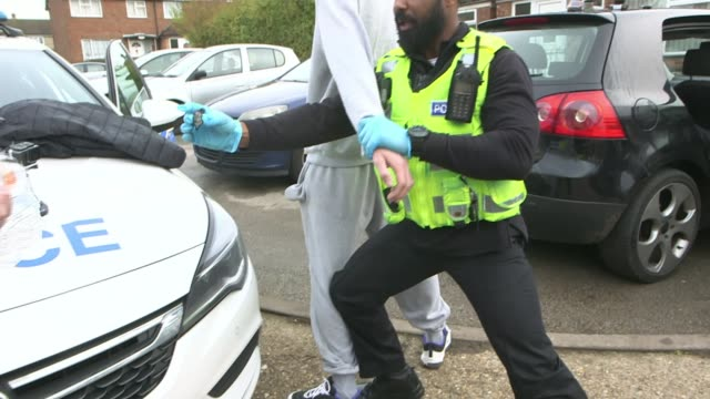 Half of 970 million pound increase in funding for police to come from council tax increases UK Bedfordshire PC Craig Andrews searching car of...