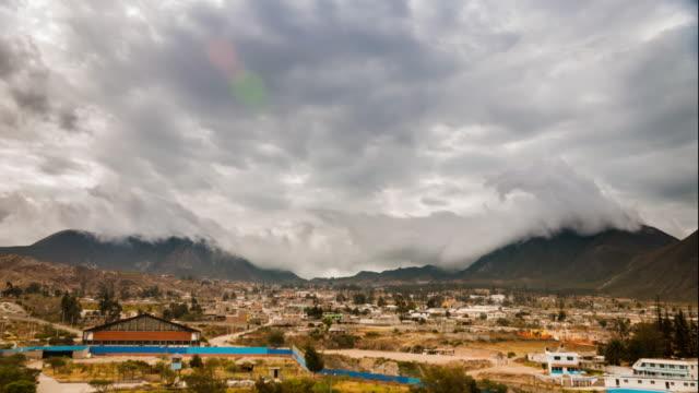 half of the world mountain timelapse in ecuador - ecuador stock videos & royalty-free footage