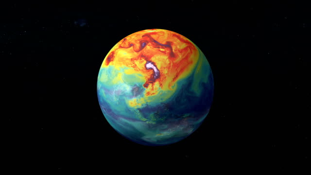 half year of the life of earth co2. from july to december. nasa public domain imagery - bruciare video stock e b–roll