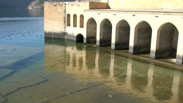 Halfeti Merkez Camii (Central Mosque) Flooded By The Lake Of Birecik Dam On The River Euphrates