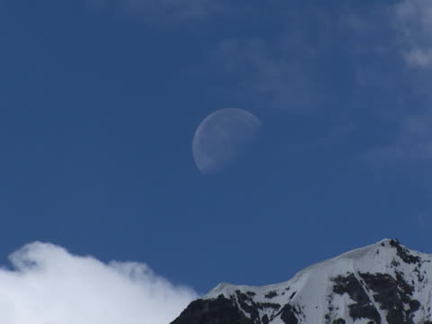 half-moon and mountain - half moon stock videos & royalty-free footage