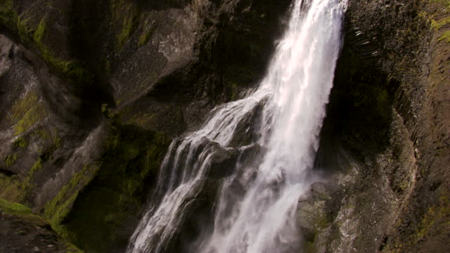halfoss waterfall iceland - panoramic stock videos & royalty-free footage
